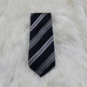 Giorgio Armani Blue & Grey Striped Tie